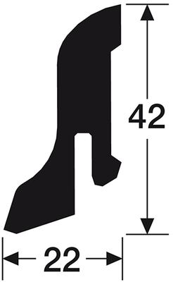 sockelleiste f r meister laminatboden lc 75 leisten hin. Black Bedroom Furniture Sets. Home Design Ideas